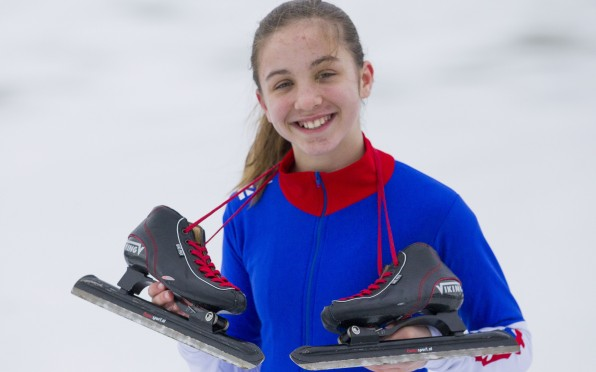 story image for Roedean's Alex S (Yr7) speed skates for GB