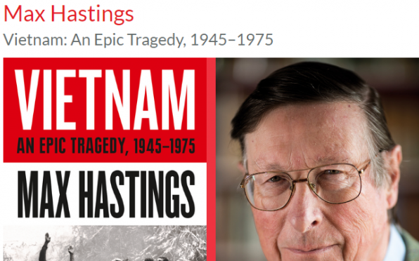 Seaford College is hosting the Petworth Festival Literary Week for the Max Hastings Vietnam