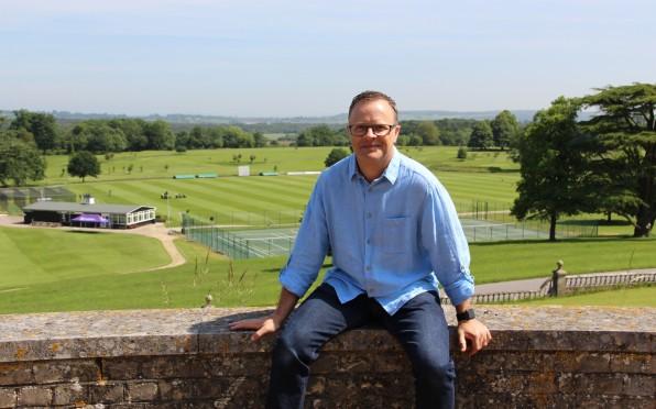Carl Pendle enjoying the views over Lavington Park