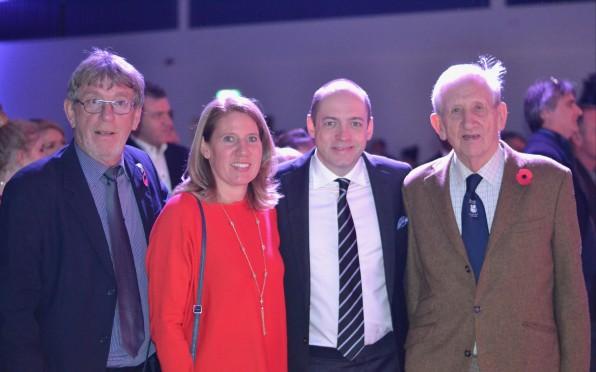 Keith Woodcock & Morris Hudson with Sarah Hudson & Gareth Neame OBE