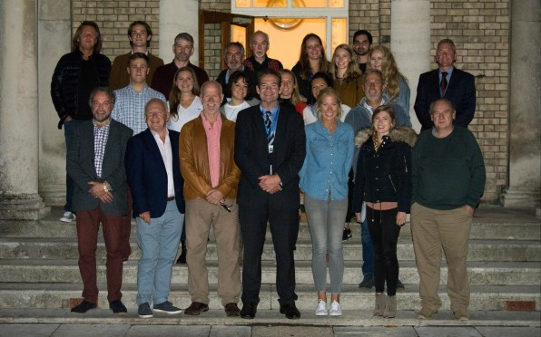 Headmaster, John Green, with some of our Old Seafordians