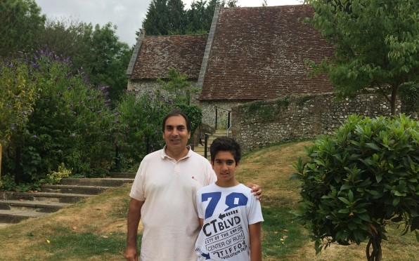 Charanjit Singh visiting Seaford with his son
