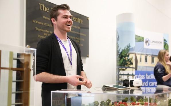 Callum Graham at Careers Fair