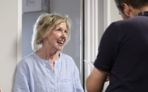 Seaford's much loved English teacher, Pauline White