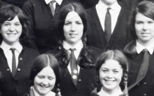 Christine (very centre) in 1971