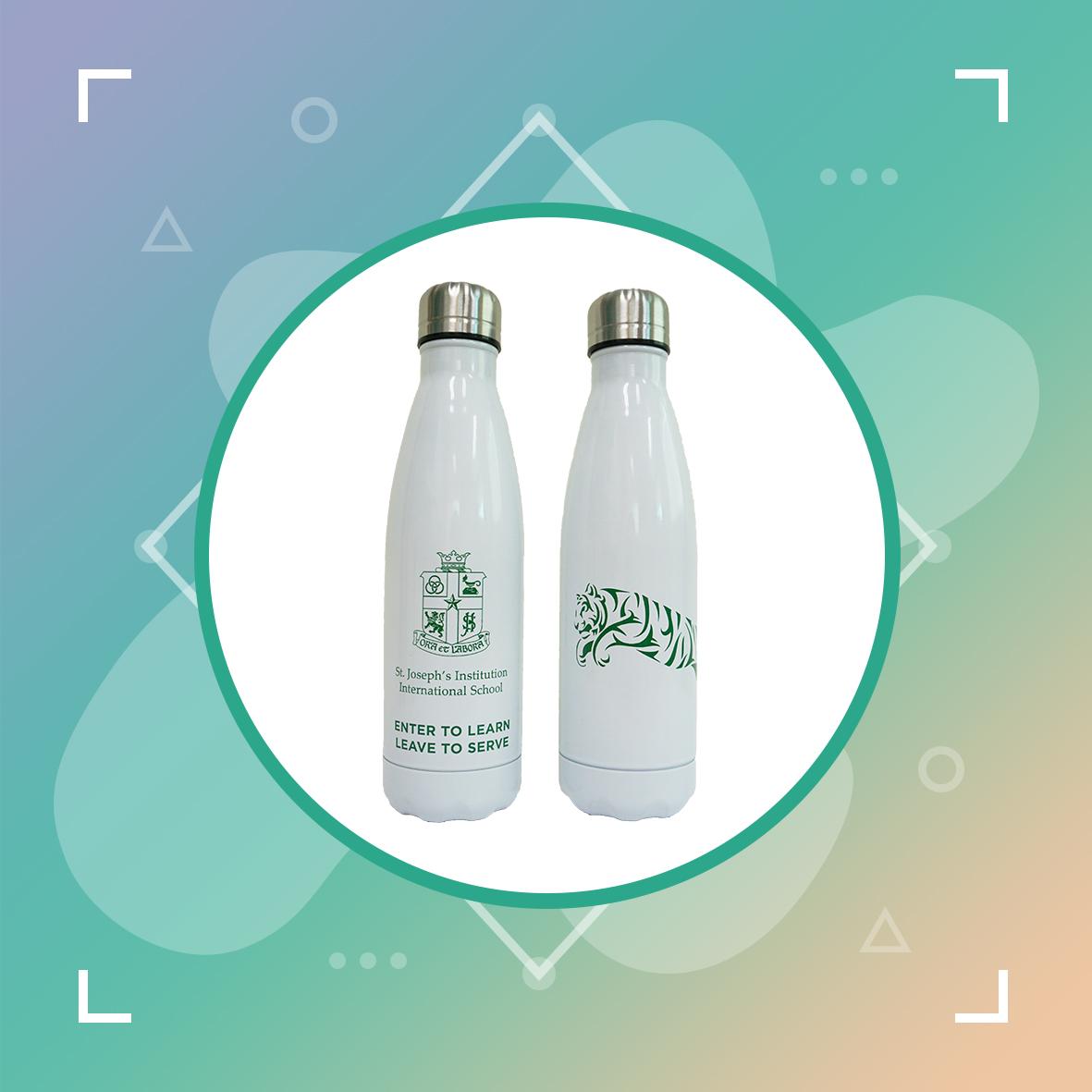 Reusable Stainless Steel Bottle (White)