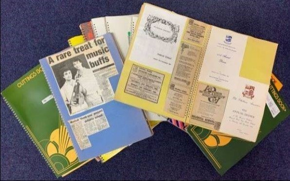 Scrap Books Donated to the Archives