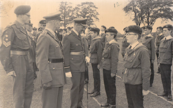 Simon Haill (3rd in from right) CCF Inspection Day June 1967, do you recognise anyone else?