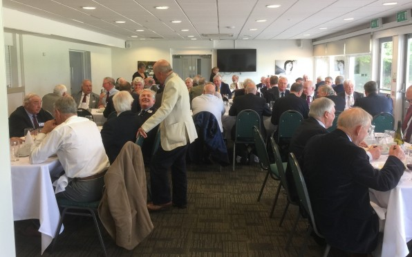 Over 60s Enjoying Lunch a the Silhillians Sports Club