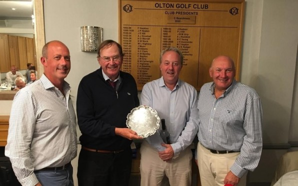 OSGS Captain Max Levenger presenting the Roy Letts Trophy