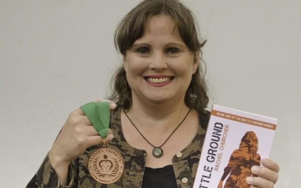 Rachel with her winner's medal