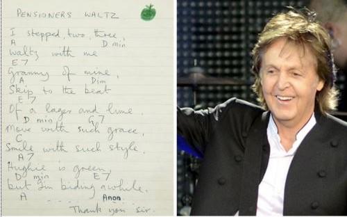 The missing song alongside Sir Paul McCartney