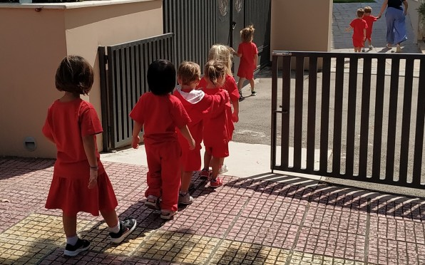 Our little ones touring the Lower School