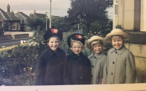 Mairi (2nd left) with sisters Seonaid & Isla and cousin