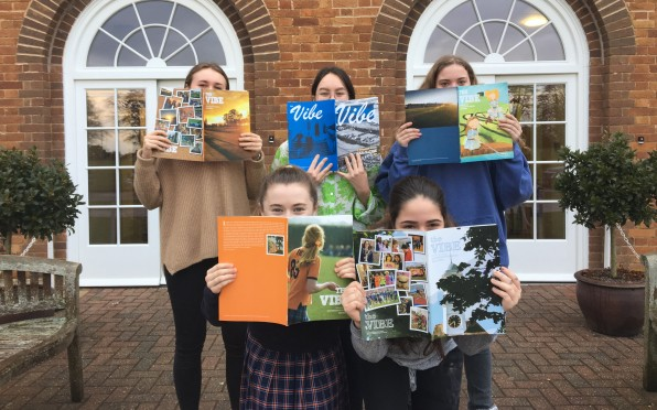 Current pupils reading previous editions of The Vibe