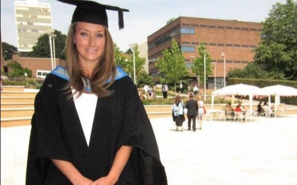Caroline graduating from Exeter with her first in English