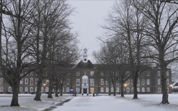 St Swithun's in the snow 2018
