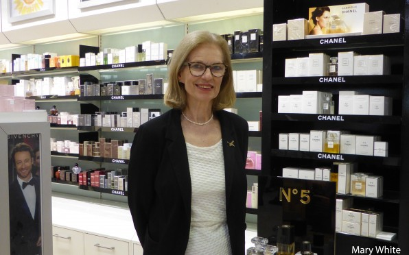 Mary White in Austins of Newton Abbot Perfumery