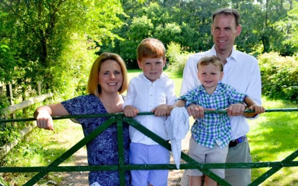 Will and Jossie Austen pictured here with their sons, Archie and Sebastian.