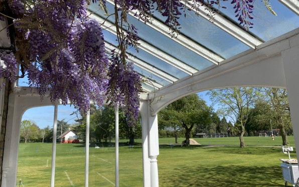 Wisteria in bloom outside the Headmaster's Drawing Room