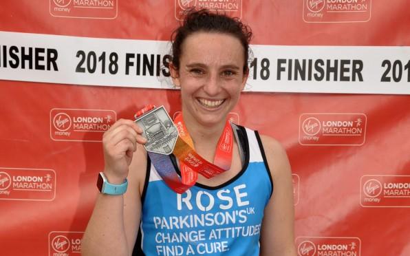Rose and her Marathon Medal