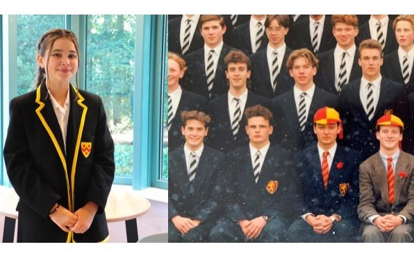 *Zach is the pupil in a house colours cap on the left.