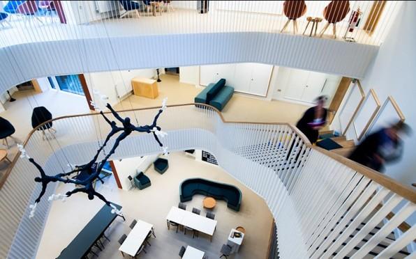 Inside the Barton Science Centre