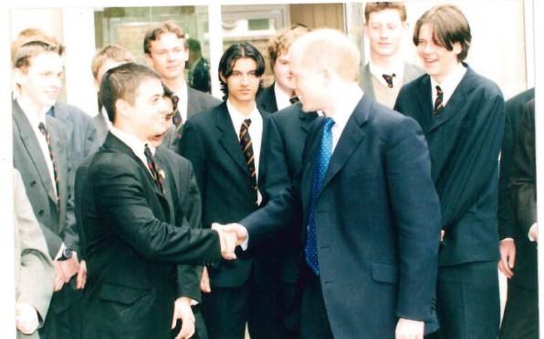 Greeting William Hague 1999