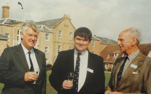 John Vernon, Henry Phillips and John Whately-Smith outside Hordle House