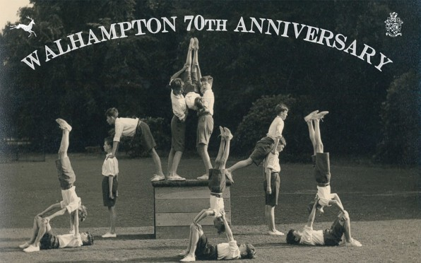 1950s boys balance