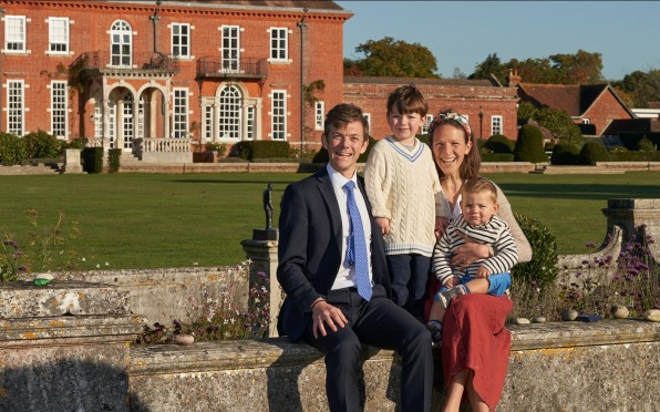 The new first family of Walhampton, January 2021