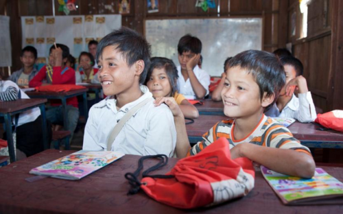 Children at school in Cambodia