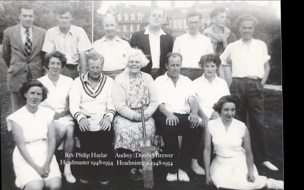 Walhampton 1954 Staff