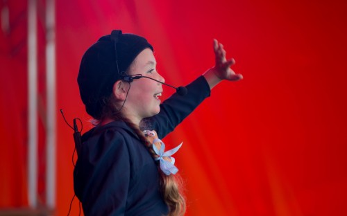 Performing at Walhampton's arts festival