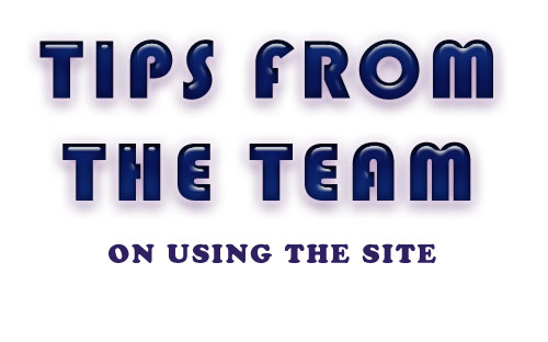 Tips from the team