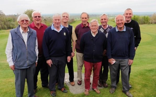 From L to R: David Cummins (40-50G), Charles Stanbury (60-67C), Mike Hannaford (56-64F), Chris Phill
