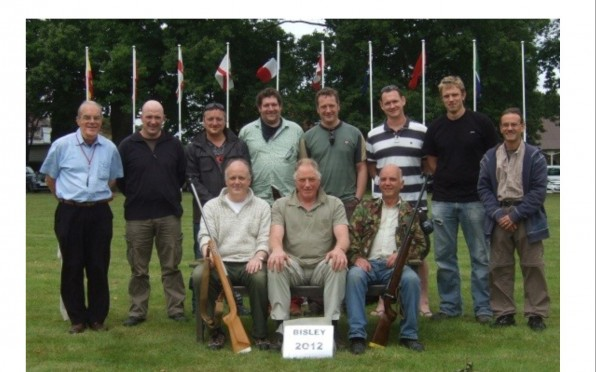 Back row LR: Bob van Dissel 49-56 C, Henry Bexley 82-90 B, Alistair Assheton 80-88 C, Bob Parsons 82