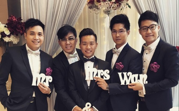 Kenneth and his groomsmen