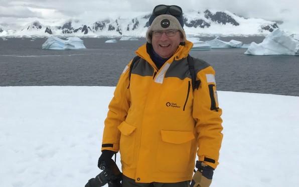 Professor Amyes in Antarctica