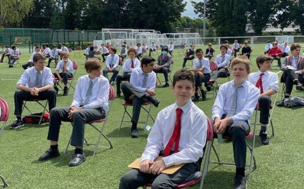 Year 8 Boys at Prize Giving