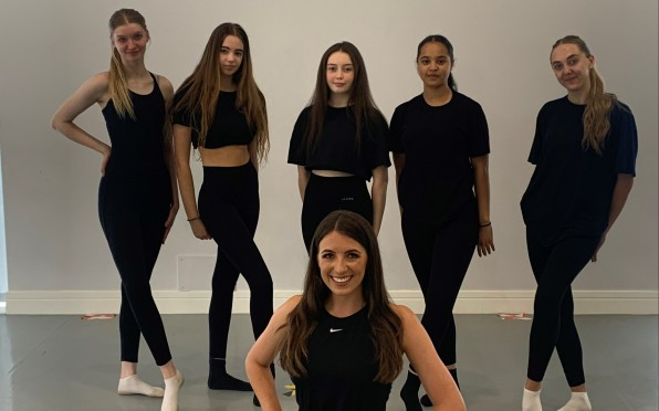 Year 12 Dance Students with Sophie