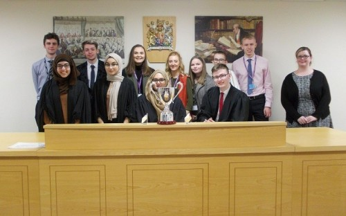 Windsor A Level Law Students at Moot Court, University of Wolverhampton