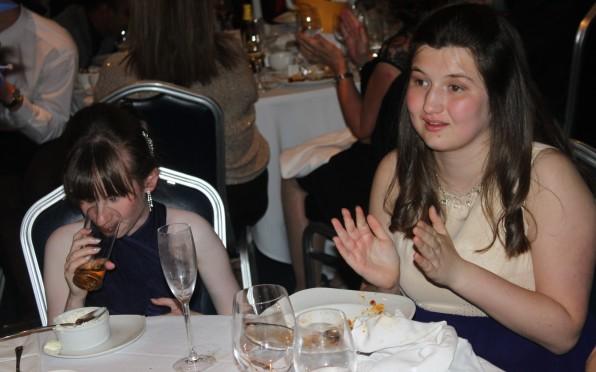 Laura Bletsoe at NCW Leaver's Dinner in 2014