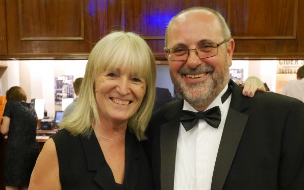 Rosie Owens and Richard Roberts, taken at the recent Leavers' Dinner Event