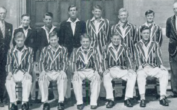 Worksop College cricket XI 1955.