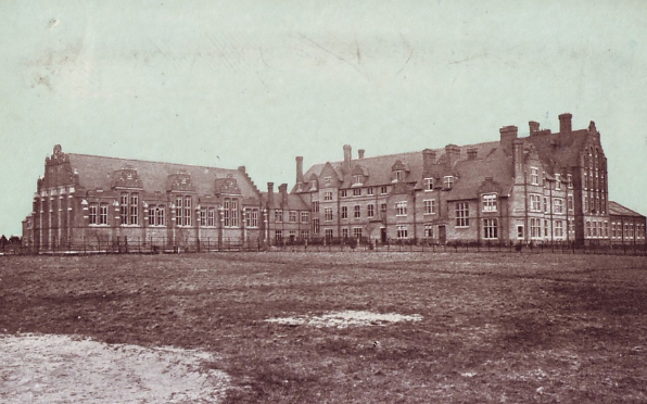 A rather spartan looking Cuthbert's College in the very early days