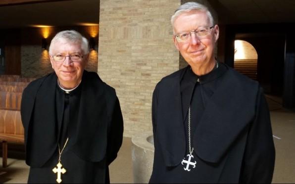 Abbot Geoffrey Scott, Abbot of Douai and Abbot Mark Barrett