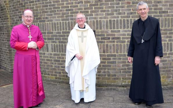 Bishop Richard Moth, Fr David & Abbot Luke Jolly